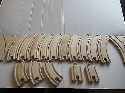 Wooden Train Track Lot of 17 pc Curved Adapters Switch Thomas Brio Etc Compat