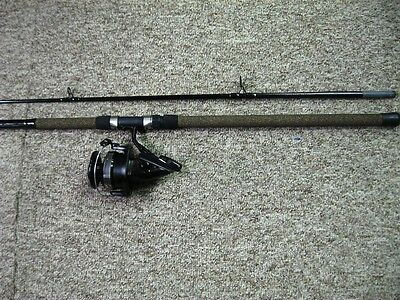South Bend Black Beauty 12' Med Spinning Rod W/ Daiwa Df-100A Surf Combo