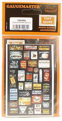Model Train HO/OO-Replica Enamel Advertising Signs - Quick and easy TSOO83
