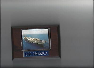 Uss America Plaque Cv-66 Navy Us Usa Military Super Carrier Ship