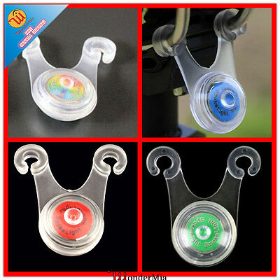 2pcs NEW Bike LED Bicycle Flash Head Tail Safety Light Lamp Clip-on (4 Color) CA