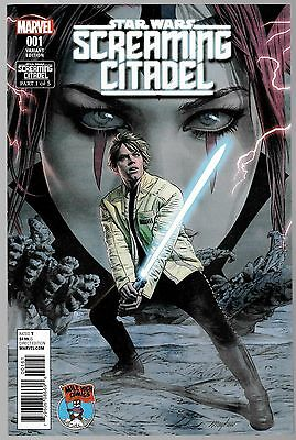 STAR WARS SCREAMING CITADEL #1 Mile High Variant.Mylar Bag 2 Extenders AF Board.