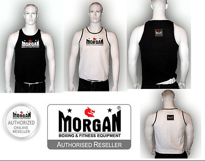 Morgan Boxing Singlet Mens Crossfit Weight Lifting Bjj Mma Ufc Thai Train Sm Lxl