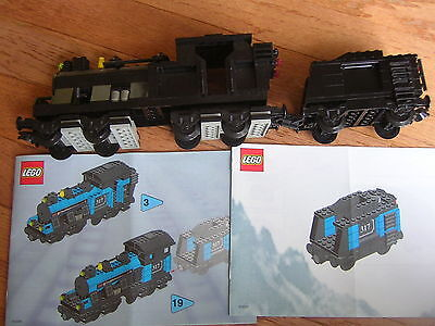 Lego My Own Train Engine and Tender. Non-powered.  With instructions