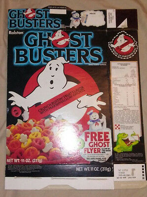 1985 Ralston GHOST BUSTERS Cereal Box (Vintage Ghostbusters) *AUTHENTIC* *VHTF*