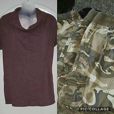 Motherhood Maternity top/blouse/shirt and capri pants size Med-Lot of 2