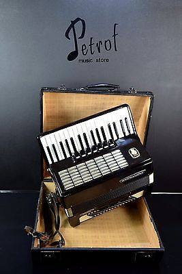 GERMAN TOP PIANO ACCORDION WELTMEISTER STELLA 80 bass,10 reg.+CASE@PETROF EXPORT