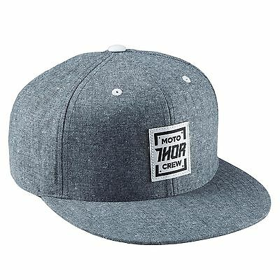 Thor Crew Snapback Hat - Blue Chambray