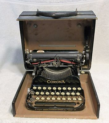 Antique Typewriter Corona Portable Folding 1917