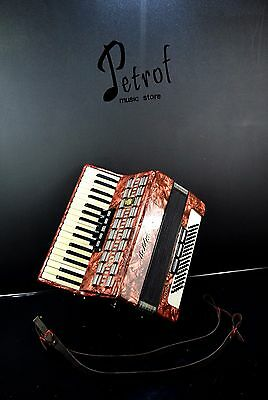 ORIGINAL GERMAN PIANO ACCORDION WELTMEISTER SERINO 60 bass,8 switches&NEW STRAPS