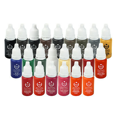 OPHIR 15ML 23 Colors Permanent Tattoo Makeup Ink for Eyeliner Eyebrow Lip _TA116