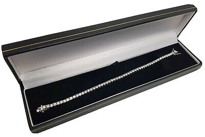 Tennis Bracelet Riviera Range Brand New Boxed Platinum Finish Unique Design