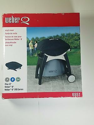 Weber Cover 6551 Vinyl Cover for Weber Q, Q-200, and Q-220 Gas Grills. Huge Savi