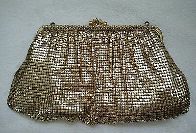 Vintage Women's  GOLD MESH COIN PURSE MADE IN WEST GERMANY