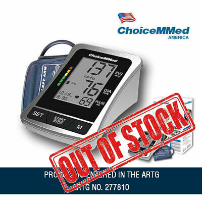 """4"""" Large Display Digital Blood Pressure Monitor Large Arm Cuff + Power Adapter"""