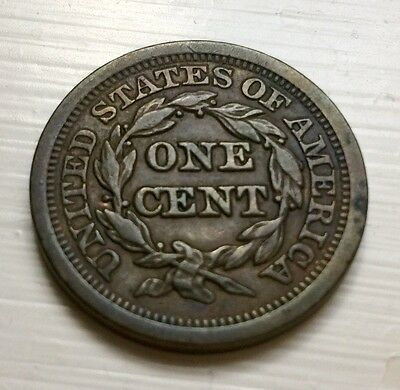 1849 Large Braided U.S. Cent - Almost Uncirculated