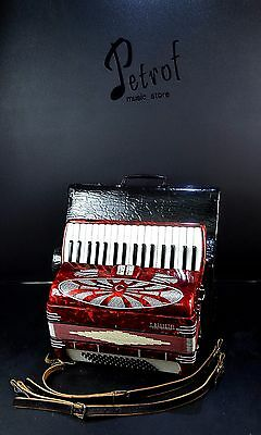 VERY RARE TOP QUALITY ACCORDION BASSETTI - 60 bass, 2 sw.+CASE -=Made in Italy=-