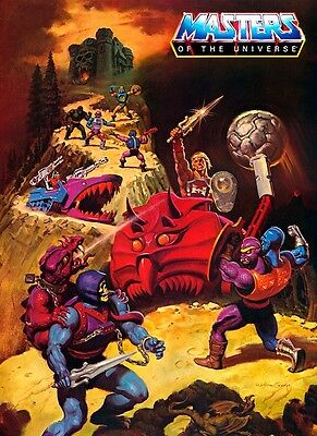 He-Man Masters of the Universe Bashasaurus POSTER Land Shark Skeletor MOTU Rare