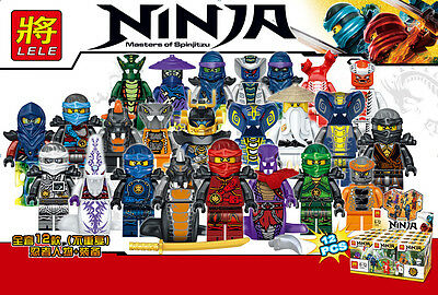 2017 24 PCS Ninjago Full Set Ninja Mini Figures Building Blocks Toys Fits Lego