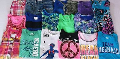 Girl's Size 14 Justice, Abercrombie & Under Armour Summer Clothing Lot Of Euc!