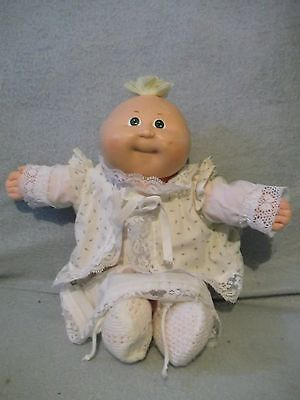"15"" green eyes 1982 Cabbage Patch baby Doll  Applachian Artworks -  blond tuft"