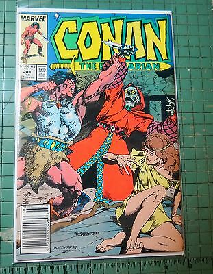 Conan The Barbarian #203 Marvel Copper Age  Lot C94