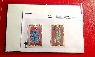 Senegal 2 African Dolls 1966 issue mint Stamps  NH  ST30