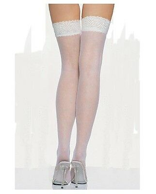 Thigh High Stockings Lace Elastic Top Over the Knee Nurse Bride Costume