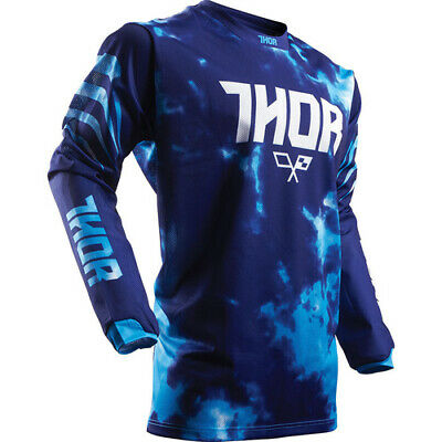 Thor S17 Youth Pulse Air TyDy Jersey Blue