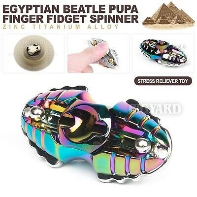 3D Egypt Beatle Fidget Hand Finger Spinner EDC Focus Rainbow Stress Reliever Toy