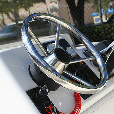 13.5 Inch Finger Grip Steering Wheel 25 Degree 5 Spoke For Marine Boat Yacht