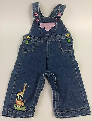 Girl's 6-12 Month Blue Overalls by Gymboree Cotton FREE SHIPPING (B)