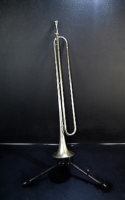 SIGNAL HORN TRUMPET FANFARE WITH ORG. MOUTHPIECE♪Brass Bugle Horn~GOOD CONDITION