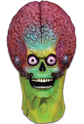 Officially Licensed Mars Attacks - Soldier Martian Full Head Mask **IN STOCK**