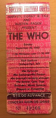 1982 The Clash & The Who Buffalo Concert Ticket Stub Joe Strummer London Calling