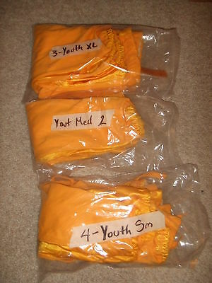 NEW 9 Pr Wilson YOUTH Sm Med XL Football Pants Snaps Belt Front YEL GOLD WTF5717