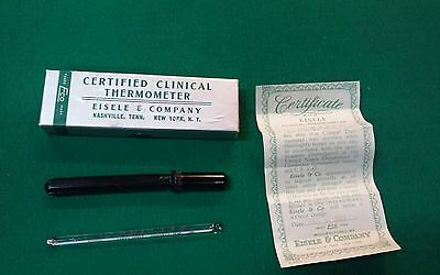 Vintage ECO Certified Clinical Thermometer Rectal Type Eisele & Company w/ Case