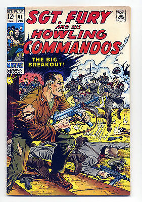 Sgt. Fury and His Howling Commandos #61 Fine 1968 ~ Marvel Comic Book