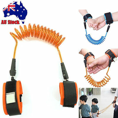 Child Boy Kids Toddler Safety Harness Leash Anti Lost Wrist Link Traction Rope