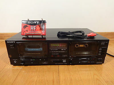 Sony TC-W550 Dual Stereo Cassette Tape Deck Japan 1987 TESTED 100% Works Great!