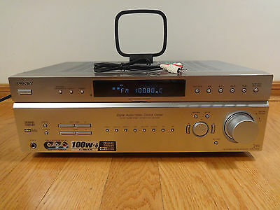 Sony STR-DE598 6.1ch 540w Audio Video Home Theater Receiver Amp TESTED Works!