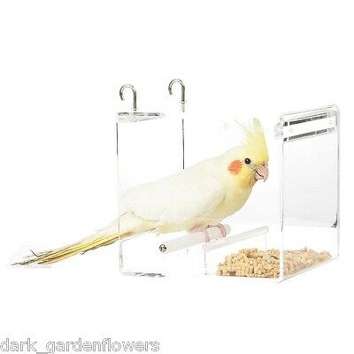 Parrot Food Mate Acrylic Less Mess Feeder Small Budgie, Cockatiel, Love Bird