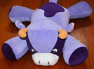 40cm TOY BLUE PURPLE COW W HORNS FUN CUTE PLUSH STUFFED ANIMAL (#30)