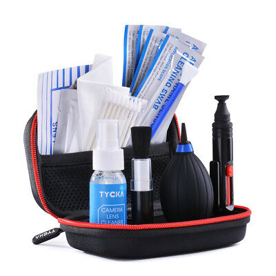 TYCKA Lens Cleaning Dust Pen Blower Cloth Cleaner Kit DSLR VCR Camera TK5