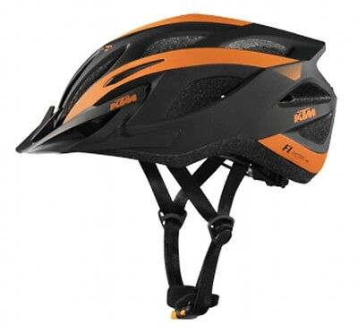KTM Helm Factory Line schwarz orange Gr. 54-58 cm