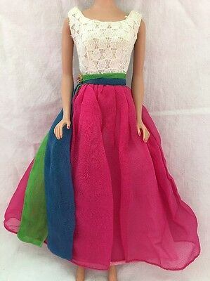 Vintage Barbie Doll 1638 FRATERNITY DANCE Gown Tagged