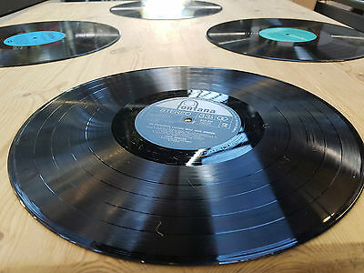 "Place Mats Set of 6 Retro / Vintage 12"" Vinyl Record Placemats / - Music Wedding"
