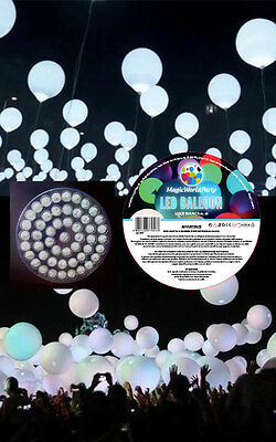 Led Luminoso per Palloncini BIANCO 50pz Matrimonio Compleanno Party