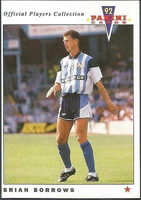 Panini Football 92-Official Players Collection-#043-Coventry City-Brian Borrows