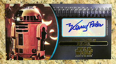 Star Wars Attack Of The Clones 3D Kenny Baker Auto Autograph Sp Gold #04/10